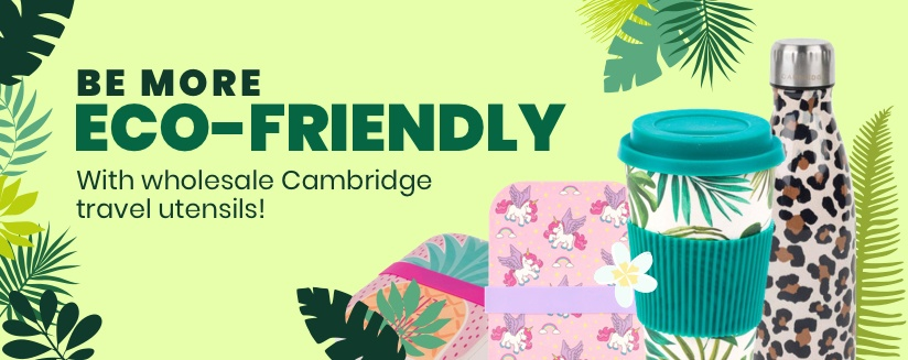 Be more eco-friendly with wholesale Cambridge travel utensils!