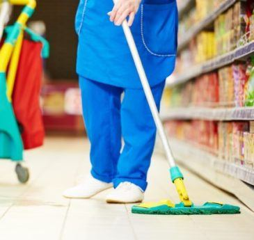housekeeping in a retail store